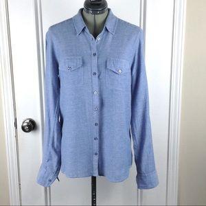 Topshop | Blue Chambray Button Down Shirt